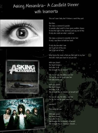 Asking Alexandria - A Candlelit Dinner With Inamorta