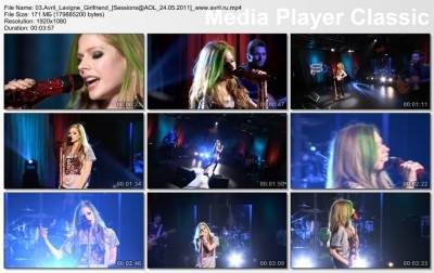 Avril Lavigne - Girlfriend (Live On AOL Sessions 2011)