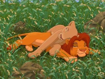король лев картинки симба и нала любовь